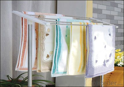 Microfiber cleaning towel with colorful stripe