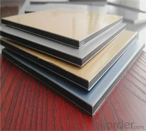 Sparkling silver aluminum composite panel( Globond )