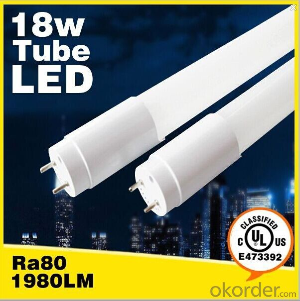 UL Certified 2835 SMD 1.2m T8 18W LED TUBE with 3 years warranty