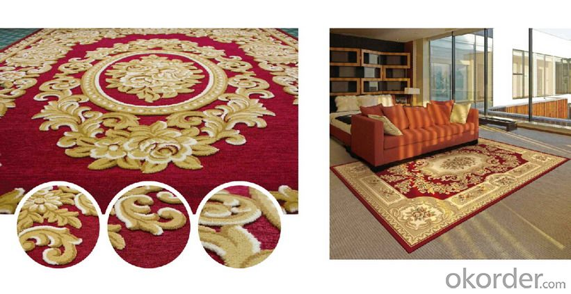Color Area Rugs, Modern Design Wilton Rug, Machine Made Area Rug