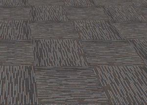 Muti-color ribbed DIY office carpet tiles commercial