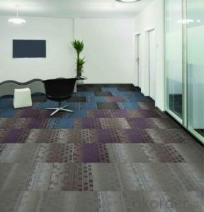 Carpet Tile, Office Tile Carpet with PP Nylon Jacquard Multi-level Loop Pile