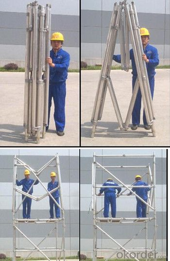 Climbing Frame boiler scaffolding for construction