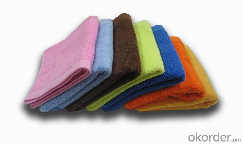 Microfiber towel for household cleaning in various color
