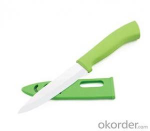 Art no. HT-TS1022 Ceramic knife set with colorful handle