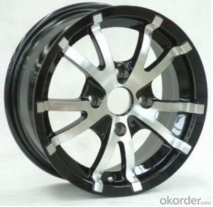 Alloy concave car hub wheels, aluminum auto rim 17 inch 18 inch (ZW-P617)