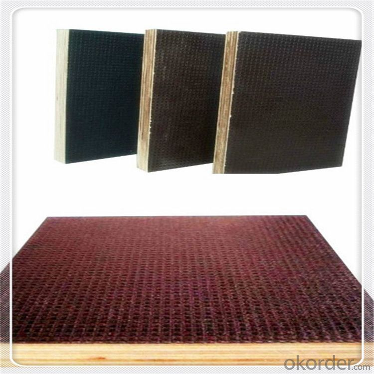 ANTI-SLIP PLYWOOD WITH HARDWOOD CORE BLACK AND BROWN FILM
