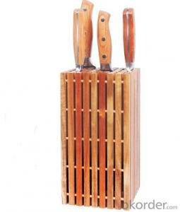 knife holder,F-KB040 acacia wood&optional inserted knife holder