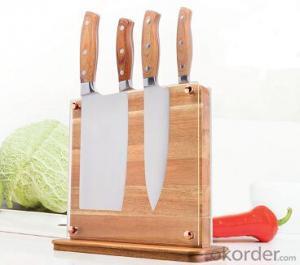 knife seat,F-KB053 acacia wood magnetic knife seat