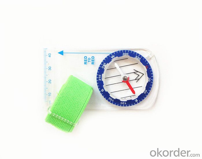 Rugged Mapping Mini-Compass with Different Scale Rulers