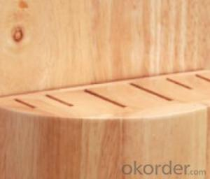 knife seat,F-KB030 Rubber wood knife seat,your best choice