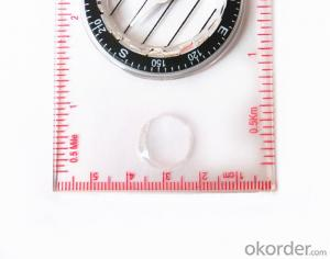 Professional Ruler Mini-Compass for Mapping