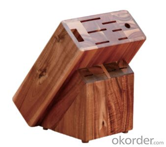 knife seat,F-KB012 acacia wood knife seat,your best choice