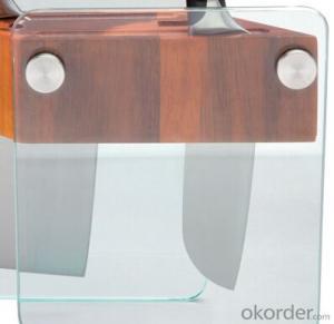 knife seat,F-KB001 acacia wood&glass knife seat