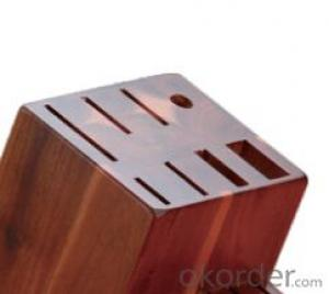 knife seat,F-KB013 acacia wood knife seat,your best choice