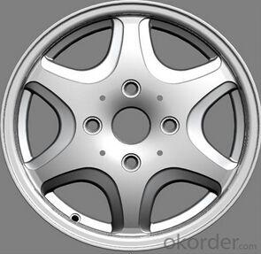 Black and red lip car aluminum alloy wheel rims