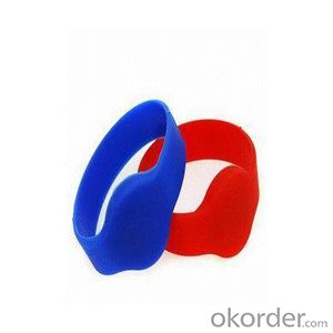 14443A 1k contactless silicone rfid wristband