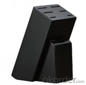 knife seat,F-KB058 black painted pine knife seat