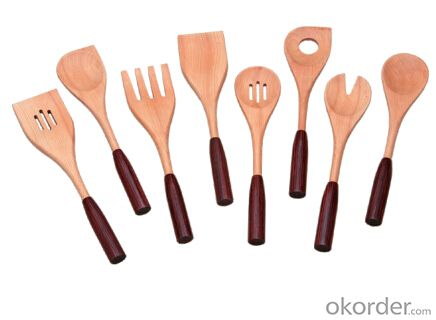tableware set,F-KU002 beech serving utensils