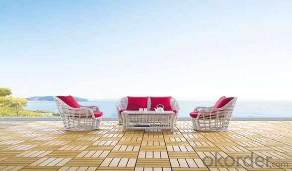 Aluminium Cane Rattan Garden Table Furniture Set