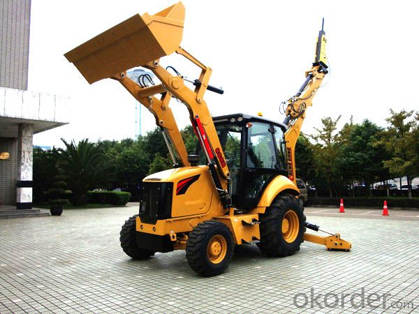 Backhoe Loader 866H for road building site