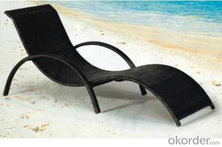 Outdoor Beach Lounger Rattan Beach Chair Chaise