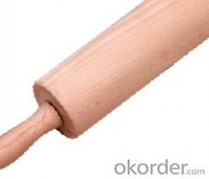 rolling pin,F-RP001 rubber wood rolling pin
