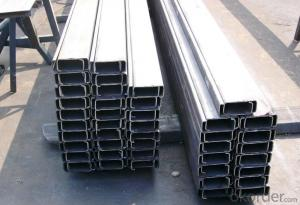 U Type Steel Made in China with High Quality for Sale