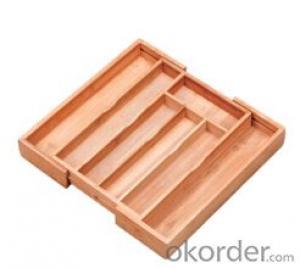 flatware tray,F-TT004 bamboo flatware tray