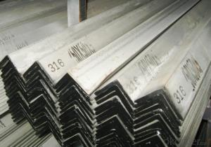 Stainless steel angle; angle steel