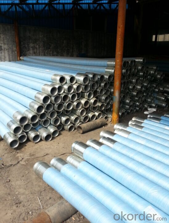 6M*DN100 RUBBER END HOSE WITH ONE SIDE COUPLINGS WORKING PRESSURE 85 BAR