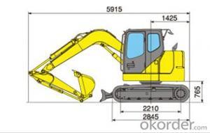 hydraulic   system  Excavator  SH75X - 3B