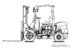 4 Tons Diesel Powered Forklift product CPCD40FR
