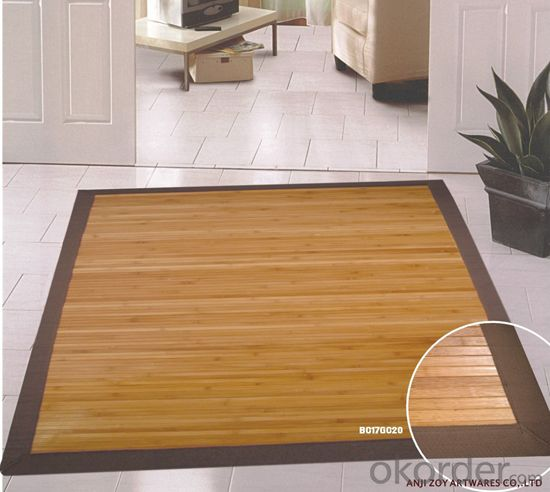 Plain Color Bamboo Rug with Competitive Price