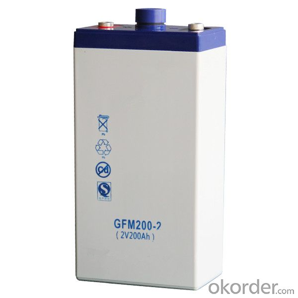storage battery widely used in solar energy 2V,GFM200-2