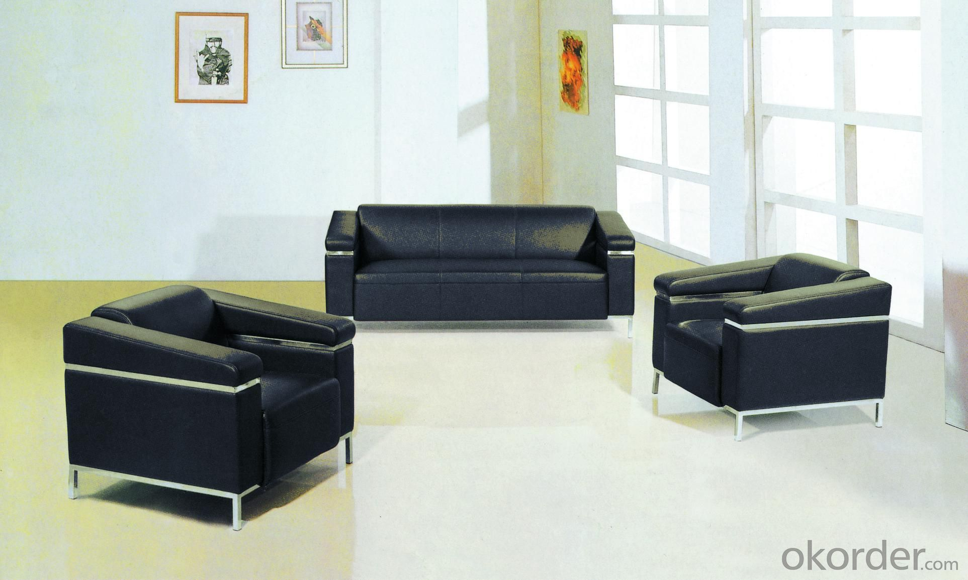 Office Sofa Office Furniture 2015 High Quality Leather Office Sofa 88106