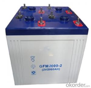 lead acid battery 2v2000ah GFM2000-2