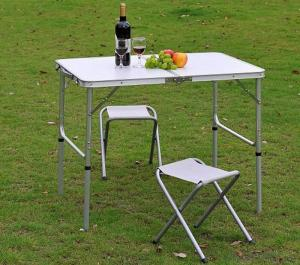 Portable Aluminum Picnic Chair Folding Garden Patio Table