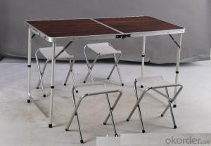 Portable Aluminum Picnic Chair Folding Garden Patio Table