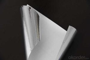Aluminum Foil Facing, Single Side Woven Foil for Sarking Insulation and Vapor Barrier