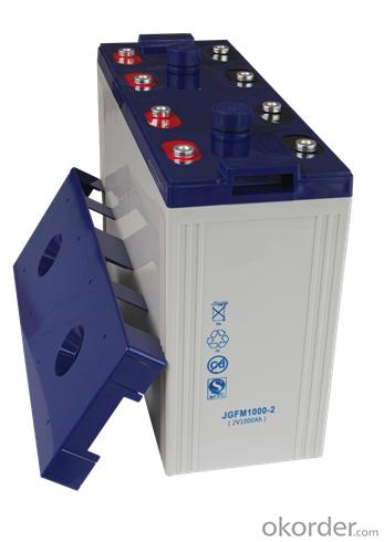 lead acid battery 2v 1000ah JGFM1000-2
