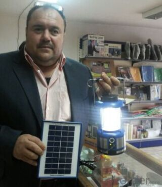Solar lantern with AC charger & PV module & Mobile charger