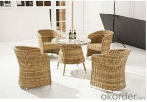Round Rattan Wicker Outdoor Dining Set Furniture
