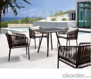 Outdoor Rattan Furniture Cafe Table Chair Set Alu Furniture Legs