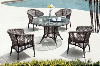 Garden Furniture Metal Garden Chair With Round Table Furniture