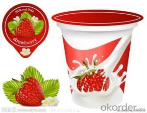 PS/PP film Aluminum foil yogurt packaging cover/ lid