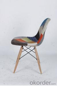 Splicing Fabric Eames Leisure Chair without Arms