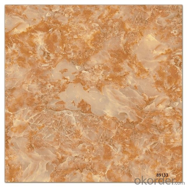 Polished Glazed Porcelain Tile The Yellow Color CMAXSB 6674