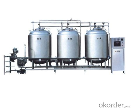 Automatic cip site rinsing system, milk, juice and beverage