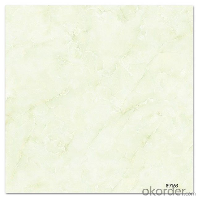 Polished Glazed Porcelain Tile The White Color CMAXSB 2203